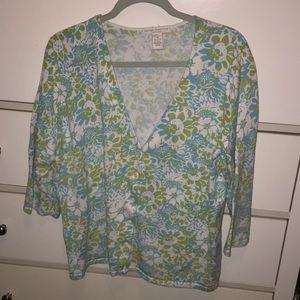 Floral V-neck cardigan